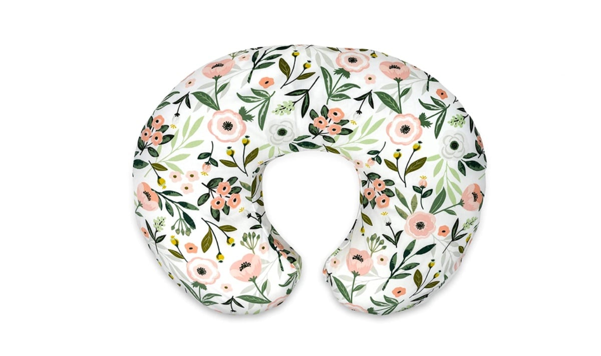 floral nursing pillow on a white background