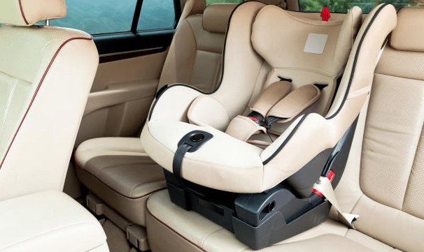 convertible car seat in a backseat