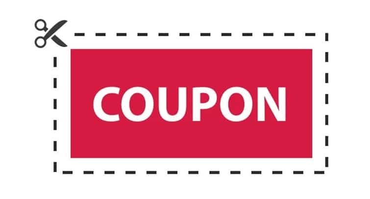 graphic of a coupon