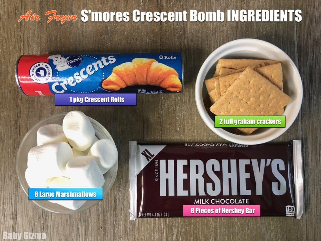 Smores crescent bombs ingredients