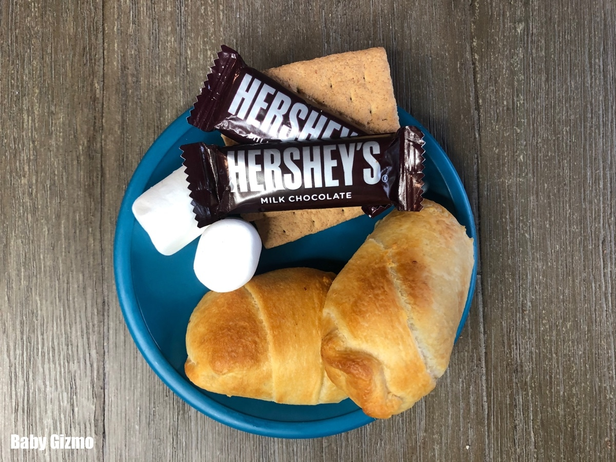 smores crescent rolls with marshmallows and chocolate