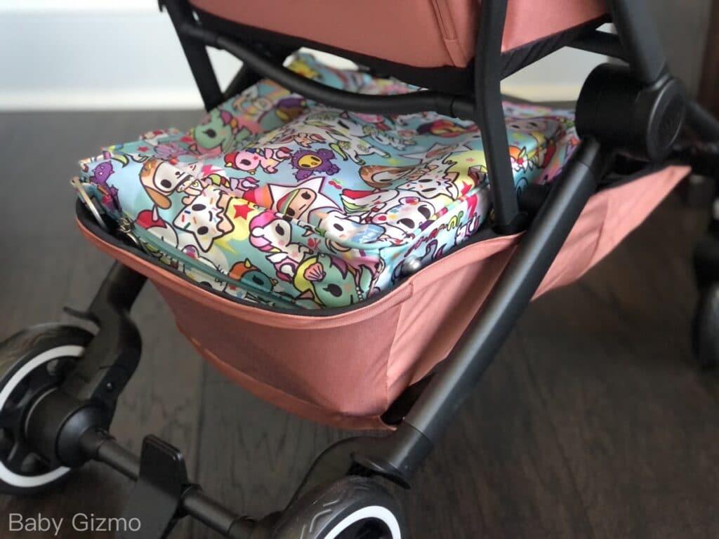 stroller basket with diaper bag