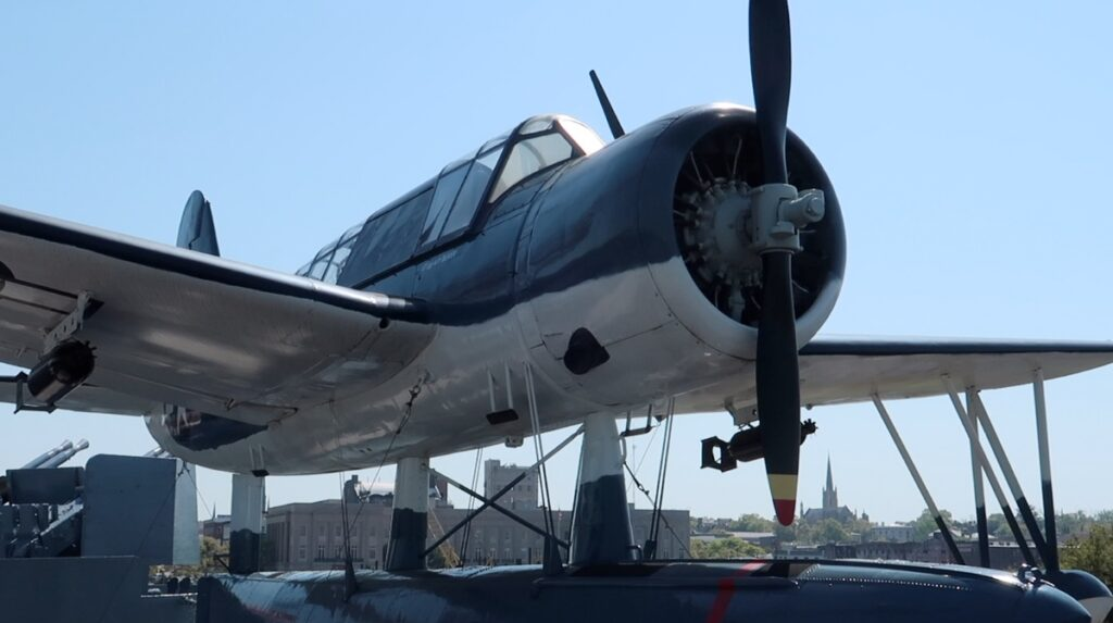 plane aboard the uss carolina