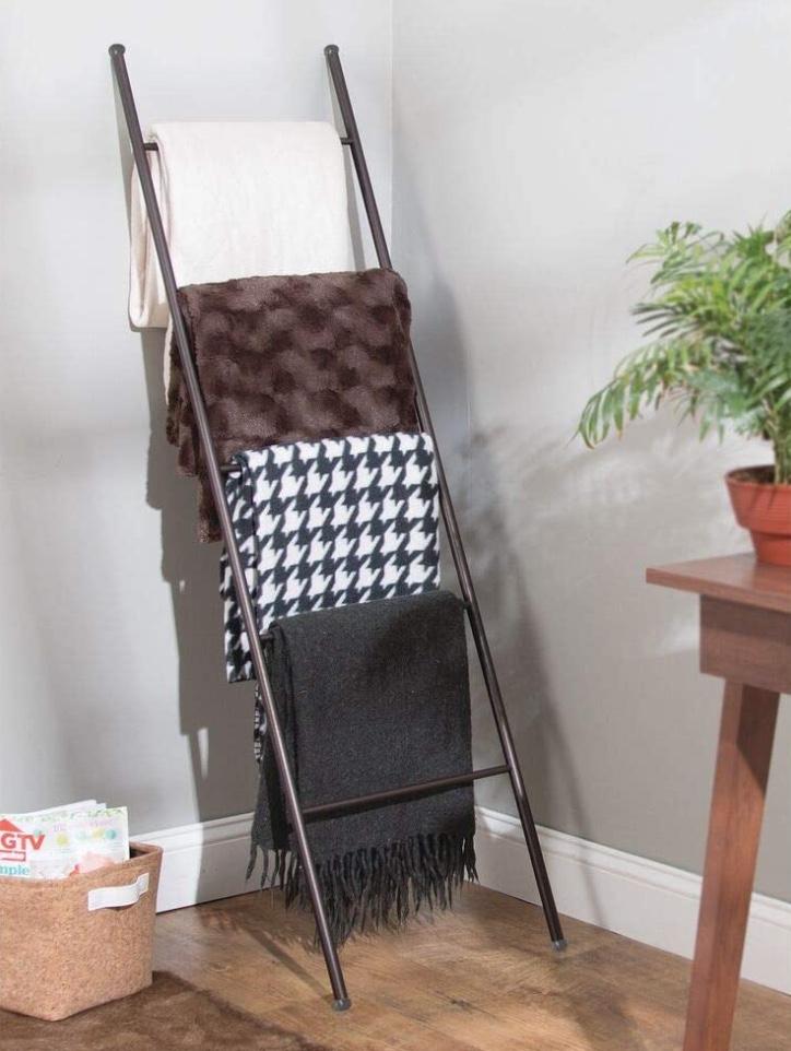 blanket ladder home decor