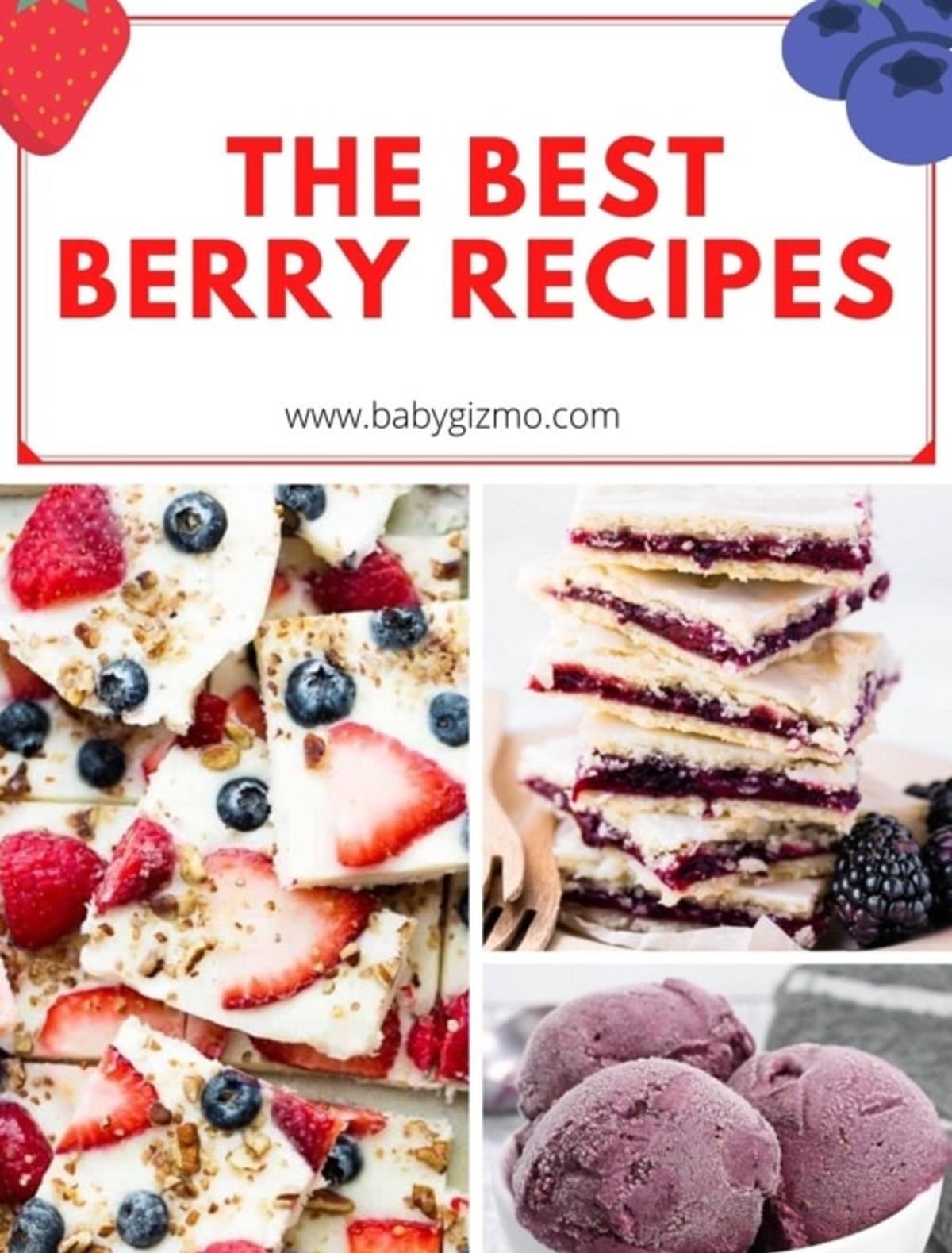 best berry recipe collage