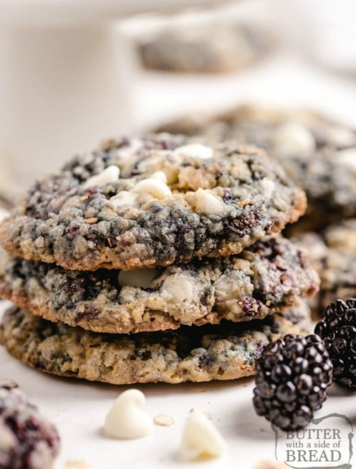 blackberry oatmeal cookies