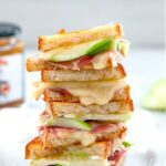 grilled brie and ham sandwich