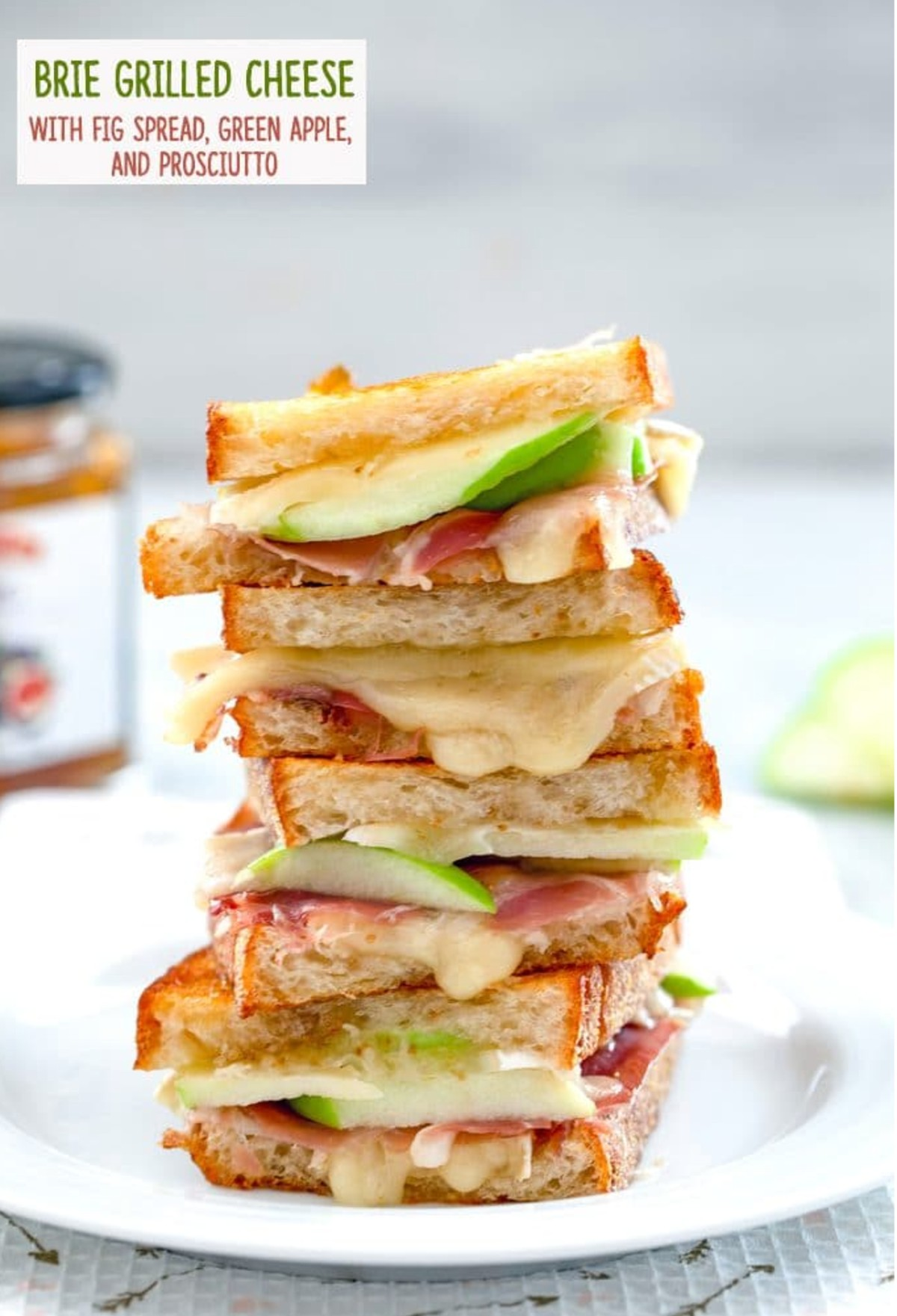 Grilled Brie and Ham Cheese