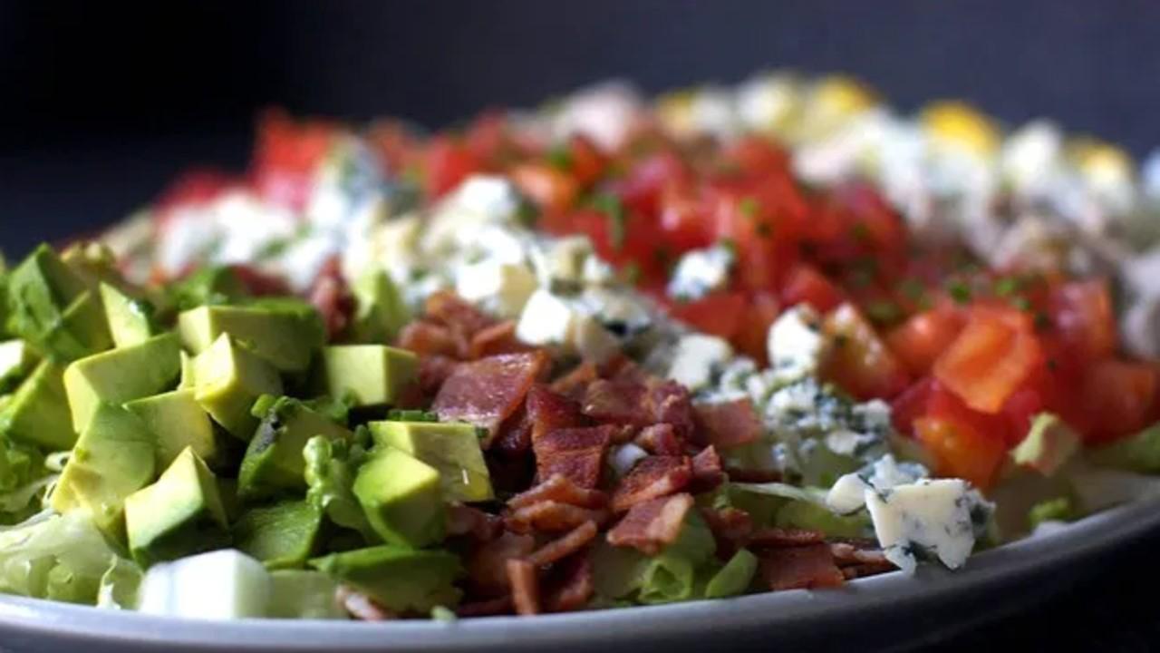 Cobb Salad on a plate