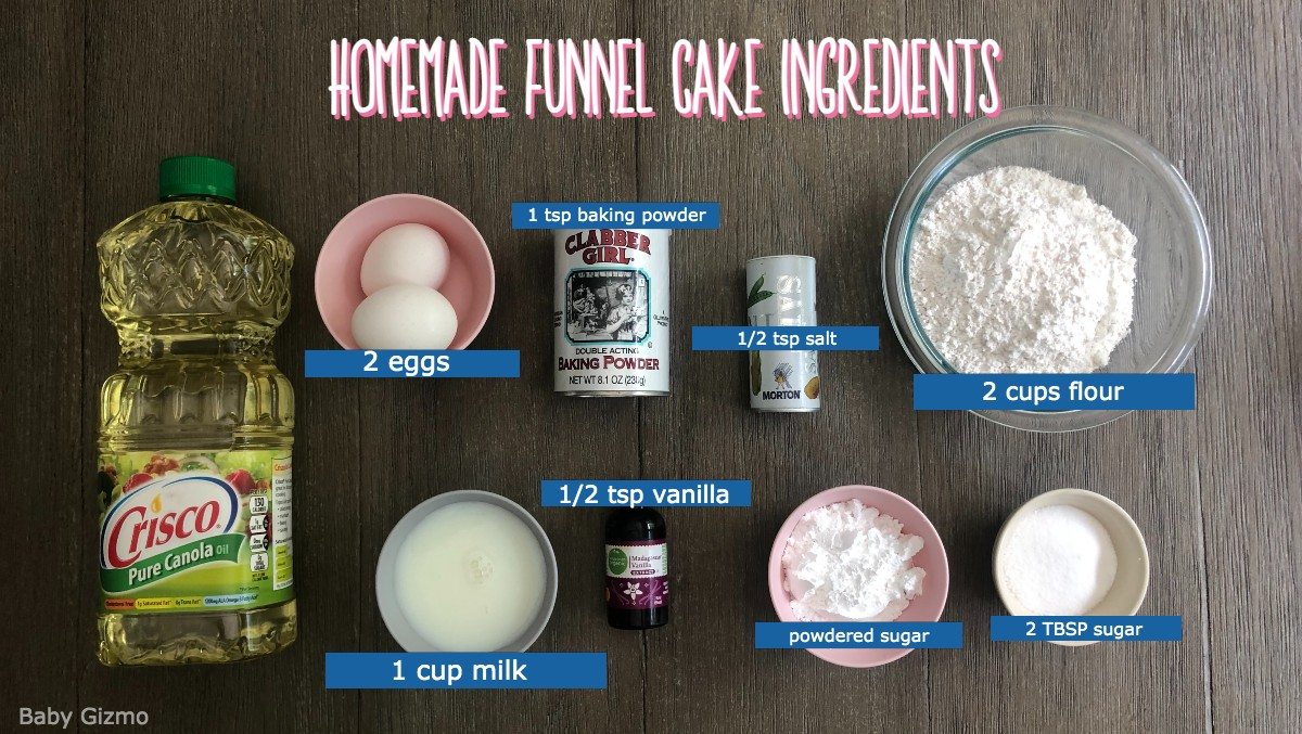 funnel cake ingredients