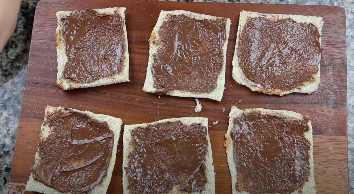 nutella on white bread