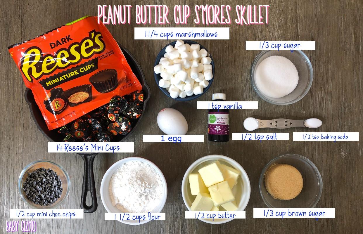 Smores cookie skillet ingredients