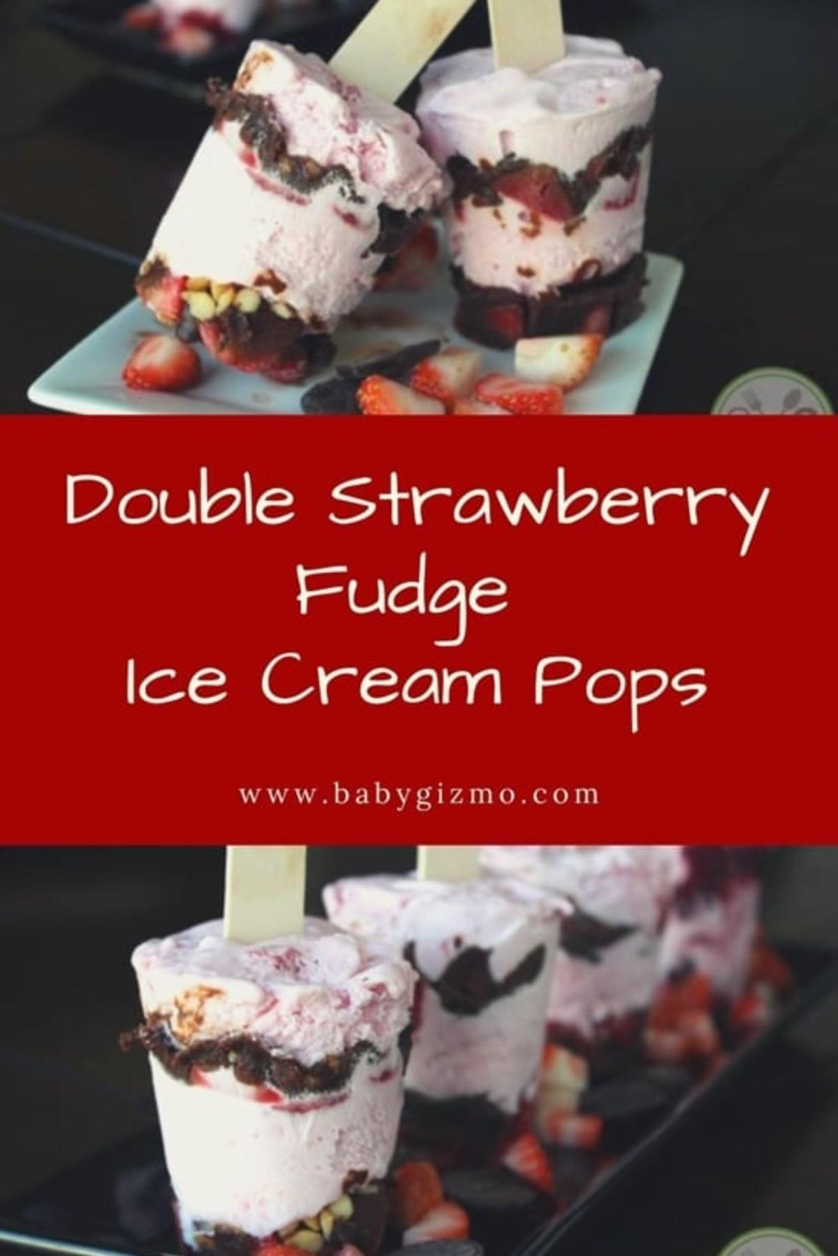 Strawberry Ice Cream pops