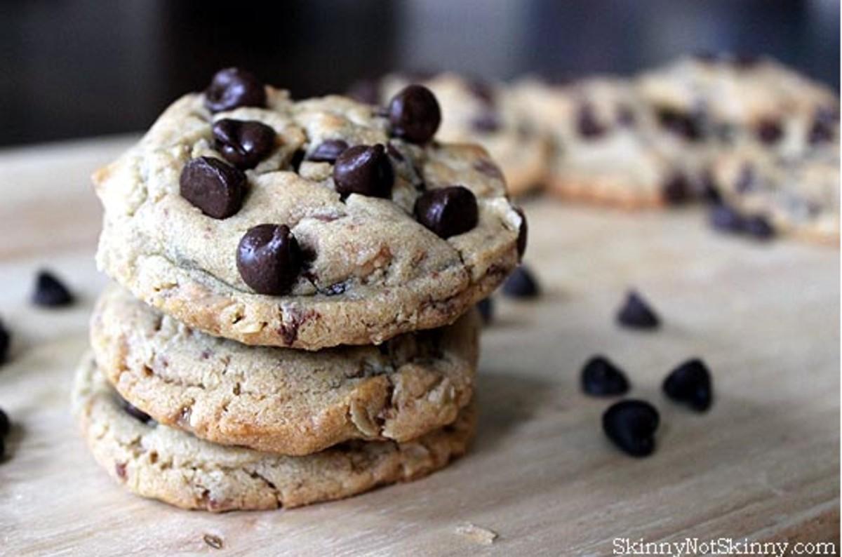 Dark Chocolate Peanut Butter Toffee Cookies