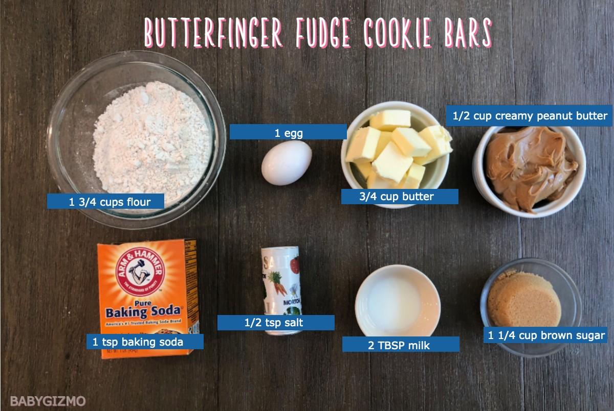 Butterfinger Fudge Cookie Bars