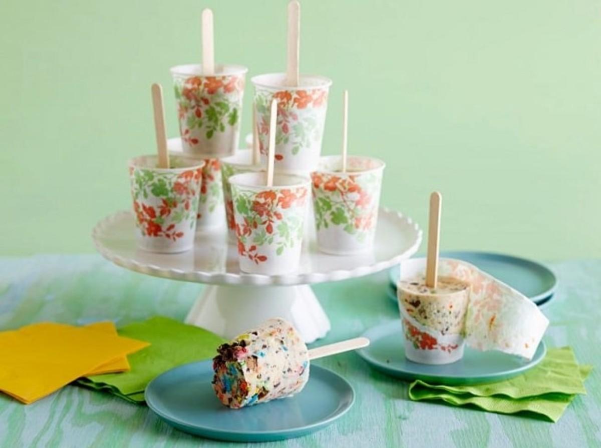 ice cream pops in dixie cups