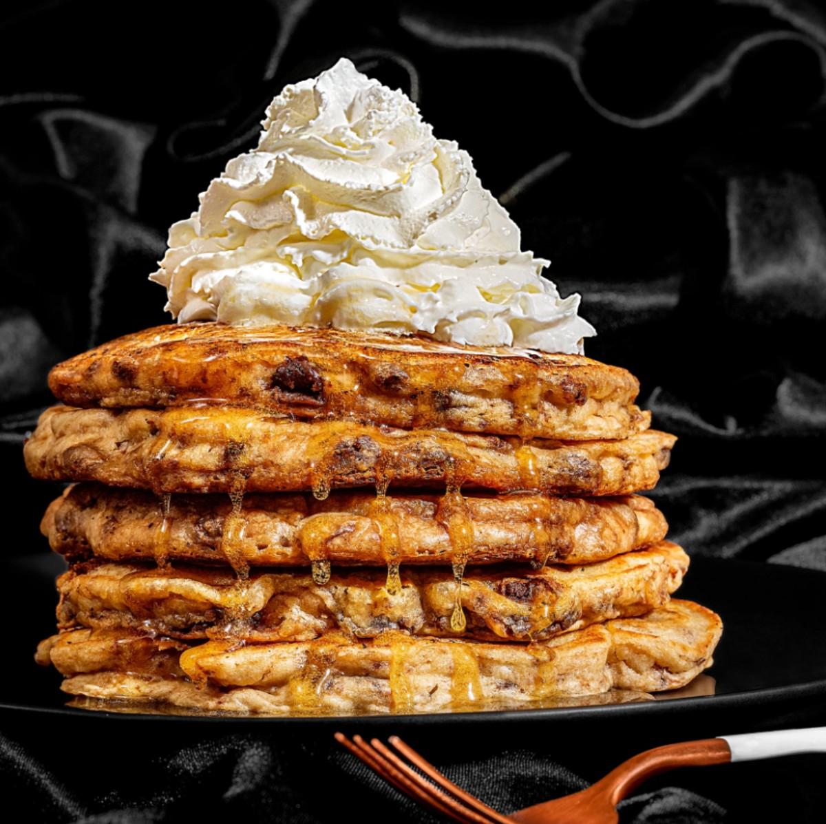 Chocolate Chip Cookie Dough Pancakes