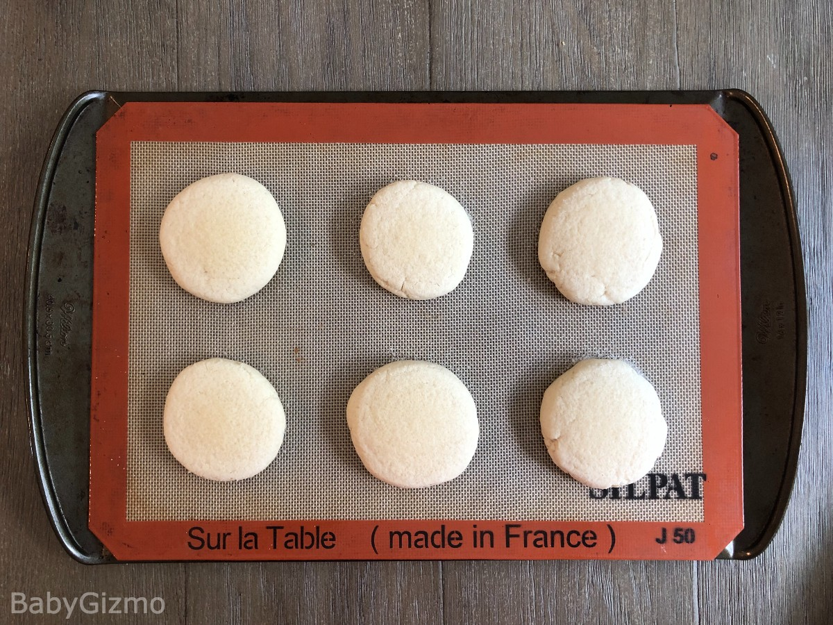 sugar cookies on a baking sheet