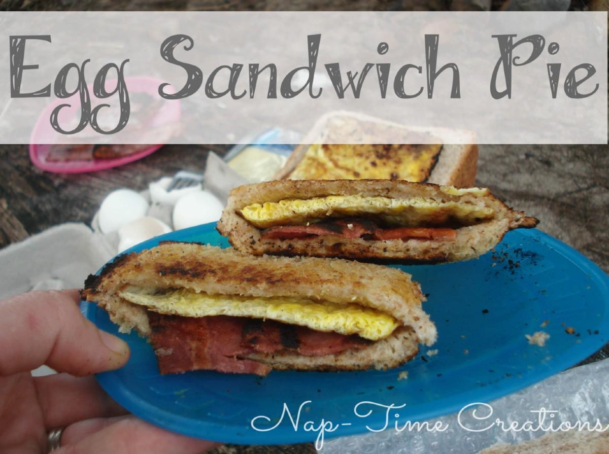 Egg Sandwich Pie with a Pie Iron