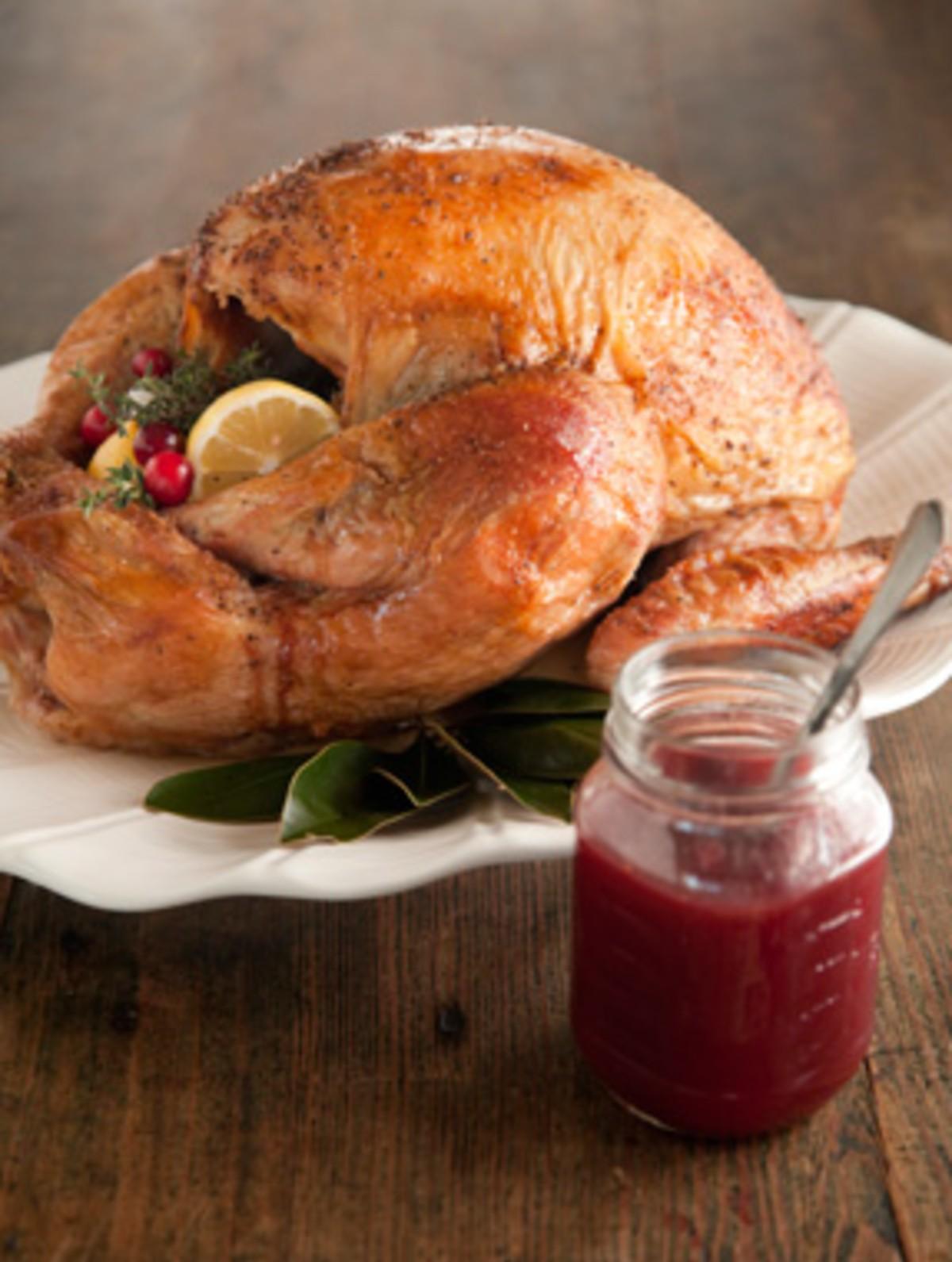 Roasted Turkey with Maple Cranberry Glaze