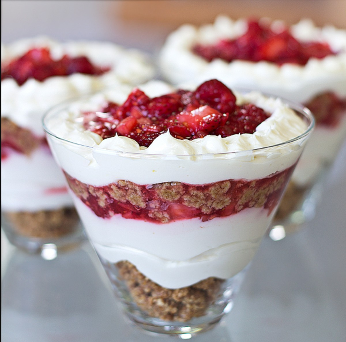 Ruby-Red Summer Berry Cheesecake