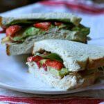 smoked turkey and strawberry sandwich