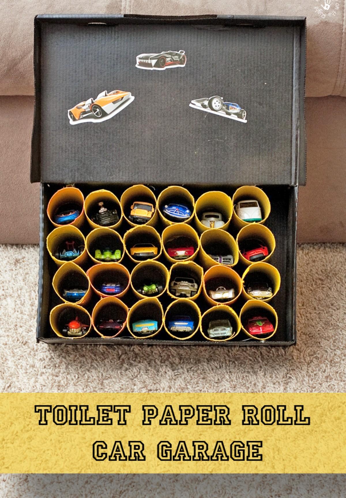 Toilet Roll Car Garage