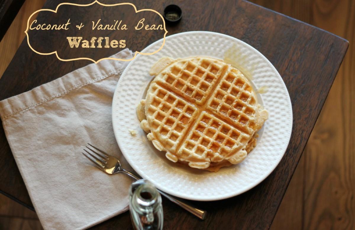 coconut vanilla bean waffles