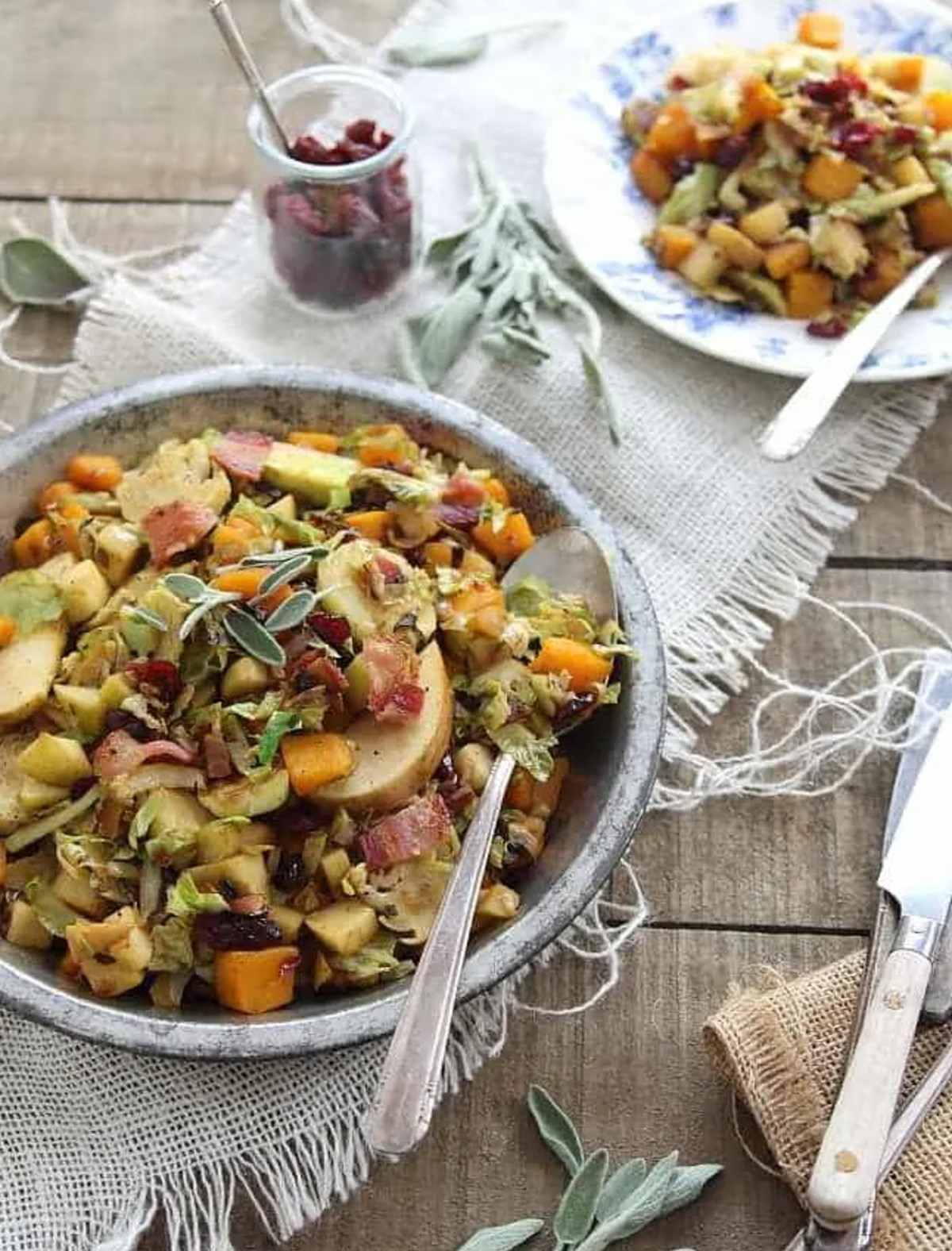 brussels sprout pumpkin hash