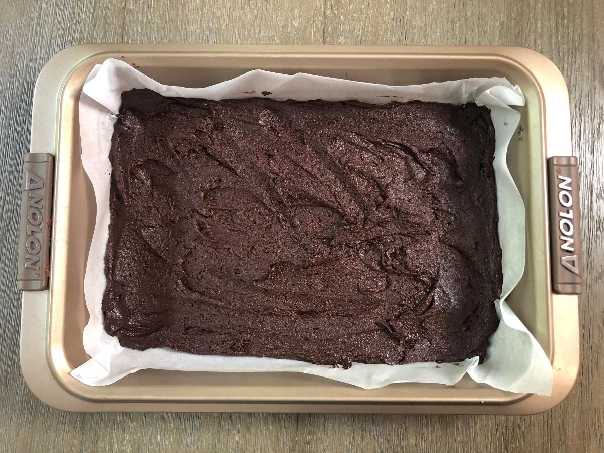 Cookie Bar layer in baking pan