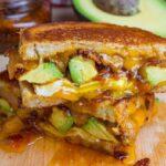 Bacon jam and avocado sandwich