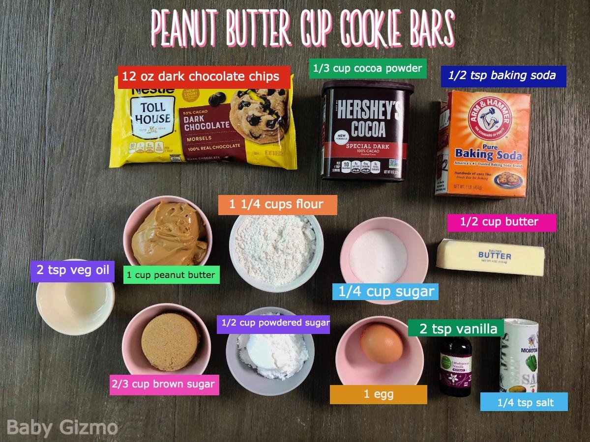 cookie bar ingredients
