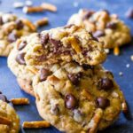 chocolate chip and pretzel cookies