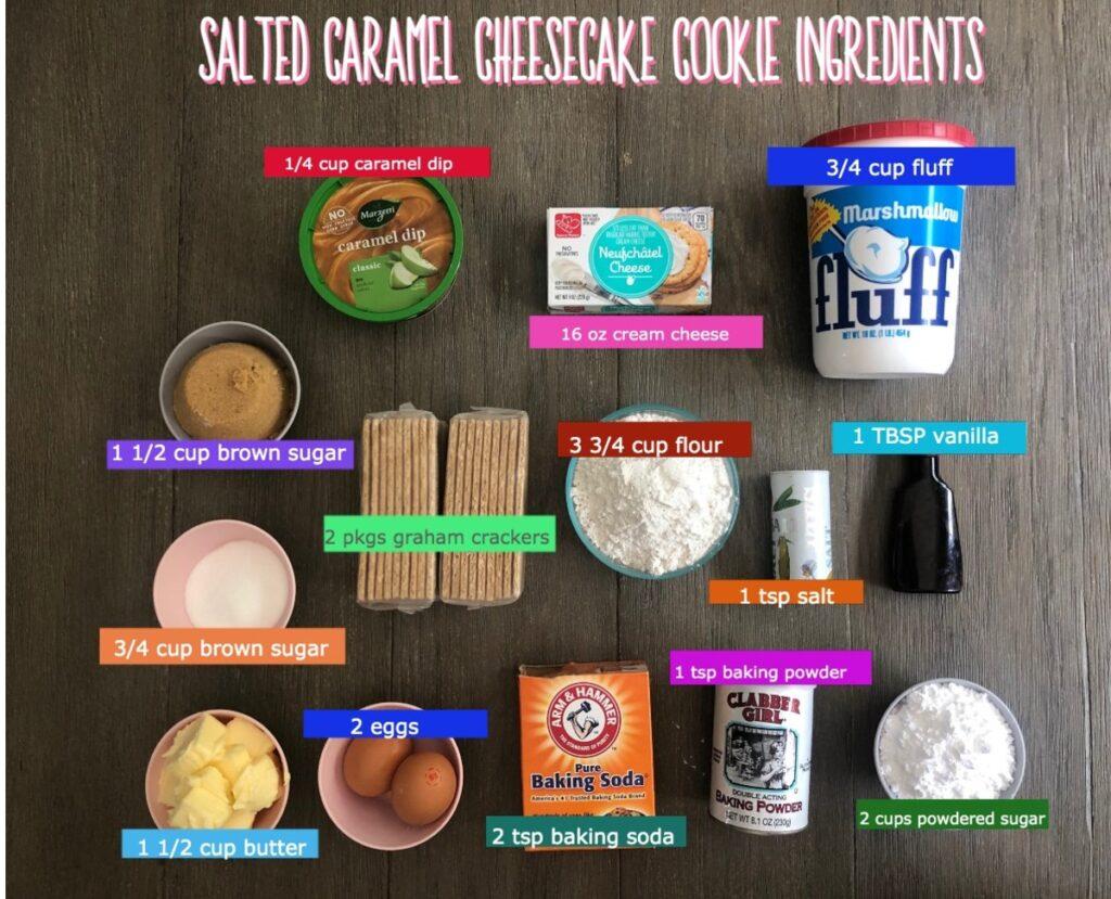 Salted caramel cookie ingredients