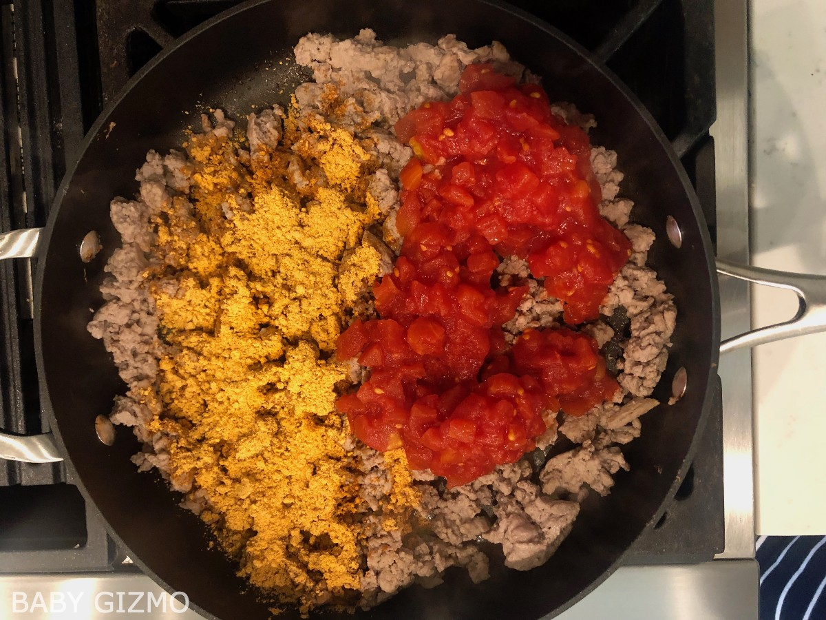 Taco meat with seasoning