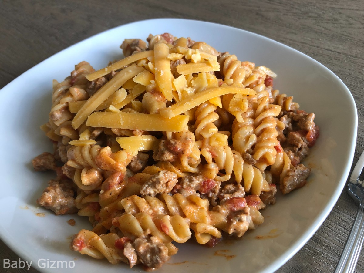 taco pasta in a bowl