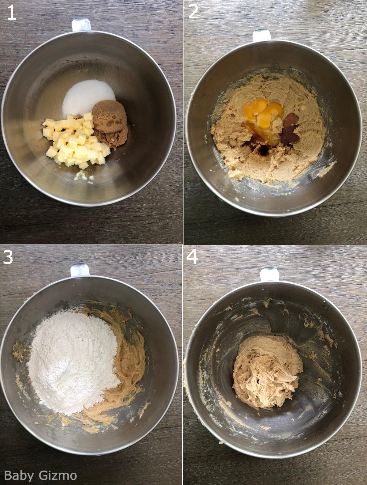 cinnamon churro cookies in bowl