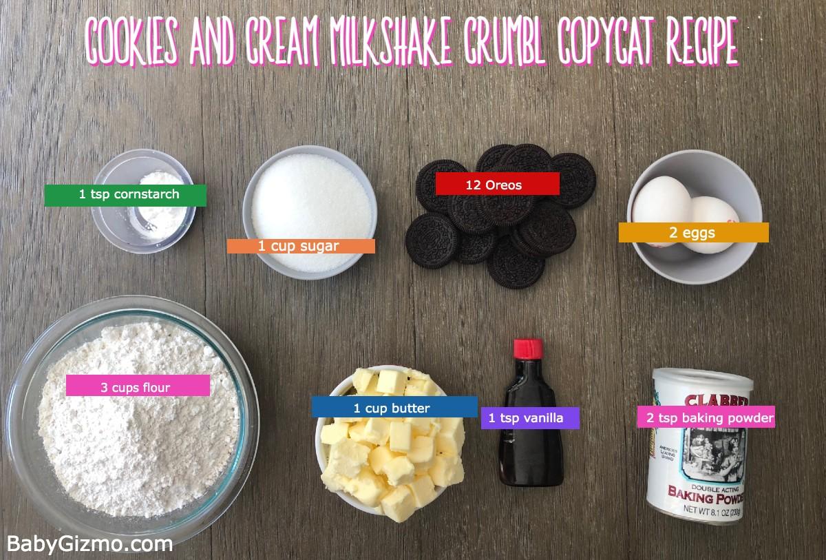 Cookies and cream milkshake cookies