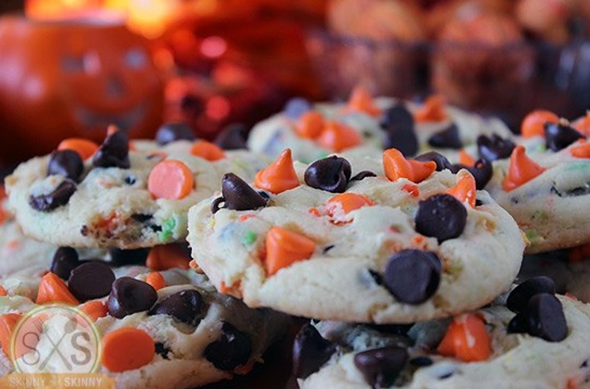 Orange and Brown Cookies