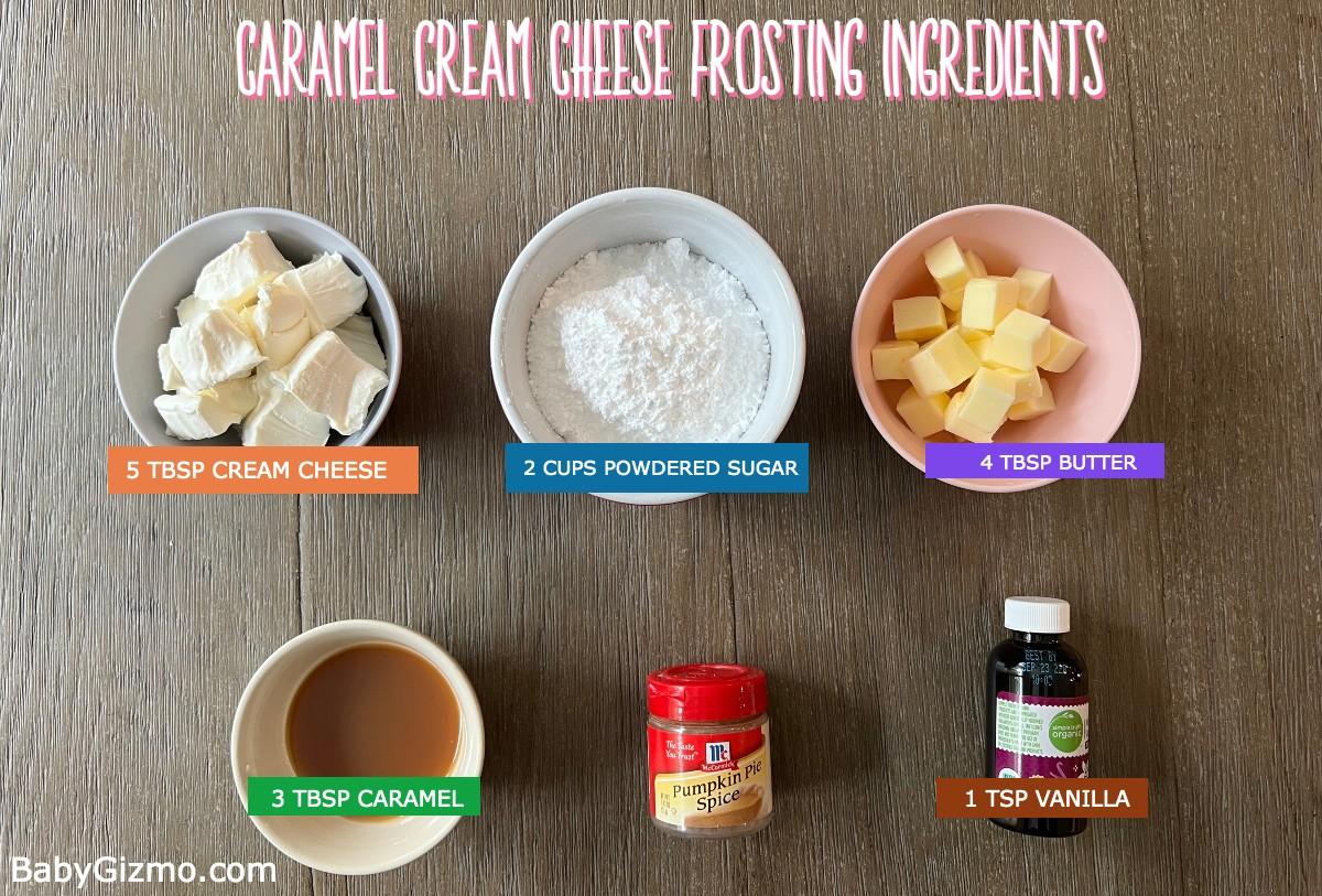 Caramel frosting ingredients