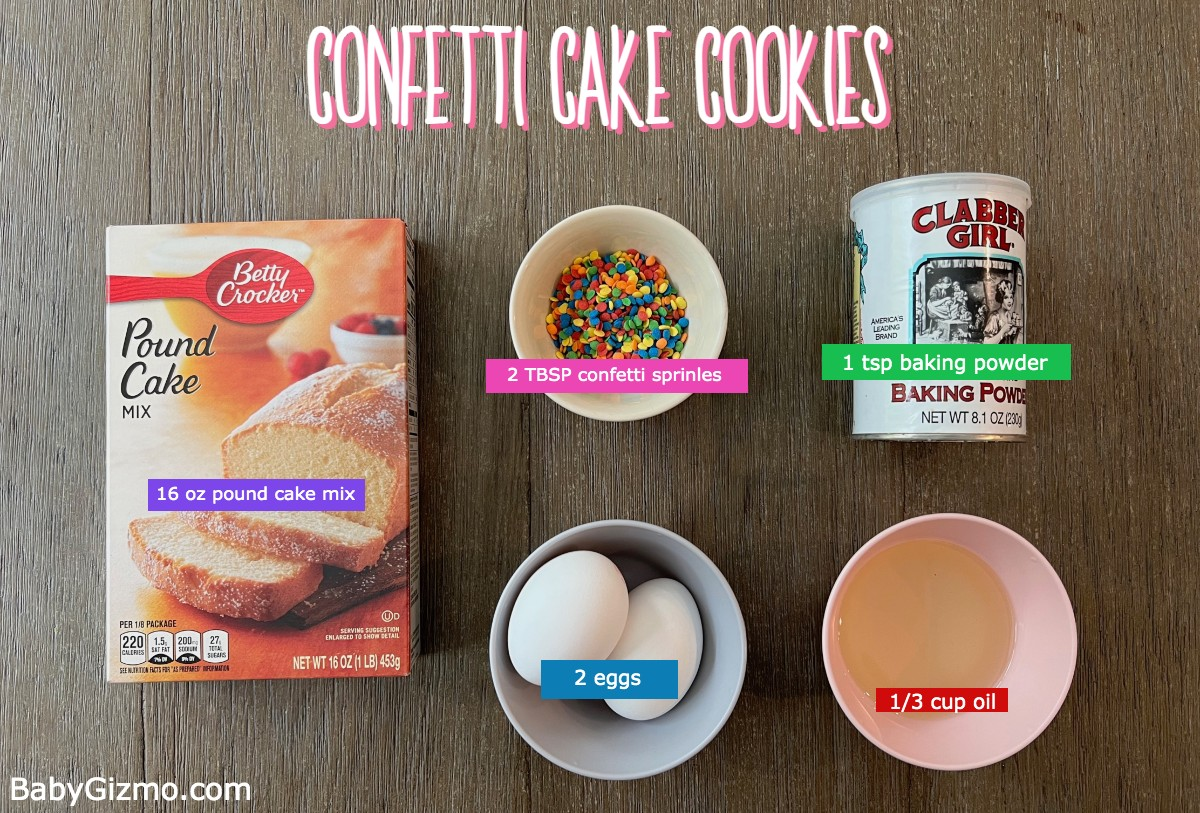 CONFETTI COOKIE INGREDIENTS