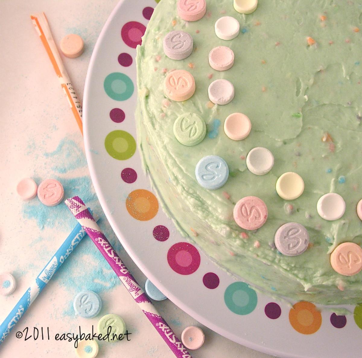 sweet tart and pixie stick cake